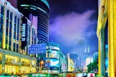 SHANGHAI, CHINA - MAY 23, 2015:Beautiful view of Shanghai street Royalty Free Stock Photos