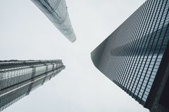 Modern buildings in Lujiazui Finance District, Shanghai, China Stock Image