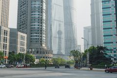 Modern buildings in Lujiazui Finance District, Shanghai, China Royalty Free Stock Photos
