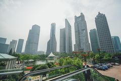 Modern buildings in Lujiazui Finance District, Shanghai, China Stock Photos