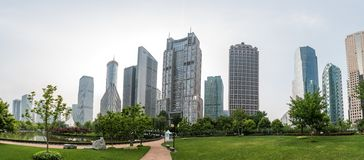 Modern buildings in Lujiazui Finance District, Shanghai, China Stock Images