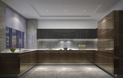 Shanghai, China, the modern style of the kitchen in the apartment Royalty Free Stock Photos