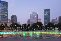 Shanghai, China at night Royalty Free Stock Image