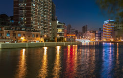 Night view of the river Royalty Free Stock Photos