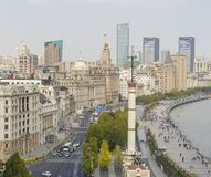 View of The Bund in Shanghai in the morning. Shanghai, China - Nov 15, 2017: View of The Bund in Shanghai in the morning. It is a waterfront area in central Stock Photos