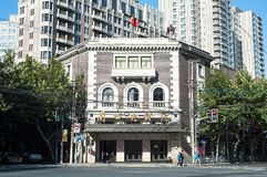 Lyceum Theatre, Jingan, Shanghai. SHANGHAI, CHINA - OCT 4, 2014 - Exterior of the Lyceum Theatre, Jingan, Shanghai stock images