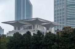 Shanghai Grand Theatre building exterior stock image