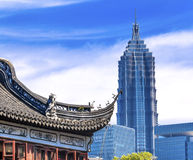 Shanghai China Old and New Jin Mao Tower Yuyuan Garden Royalty Free Stock Photos
