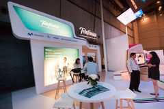 SHANGHAI, CHINA - SEPTEMBER 2, 2016: Booth of Telefonica company Royalty Free Stock Image
