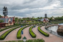 Shanghai Disneyland in Shanghai, China. Shanghai, China: September 24, 2018: Shanghai Disneyland in Shanghai China. Shanghai Disneyland opened in June 16, 2016 royalty free stock image