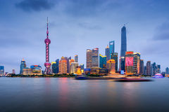 Shanghai China Skyline Stock Photo