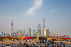 Shanghai, China. A skyline view of the cityscape Stock Images