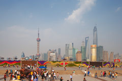 Shanghai, China. A skyline view of the cityscape Royalty Free Stock Image
