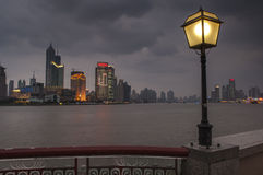SHANGHAI/CHINA 5TH MARCH 2007 - A stormy winter's night on The B Stock Photography