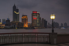 SHANGHAI/CHINA 5TH MARCH 2007 - A stormy winter's night on The B Royalty Free Stock Photo