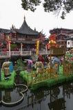 SHANGHAI-/CHINA5TH MARS 2007 - Yu trädgårdar en 17th århundradeträdgård Royaltyfri Foto