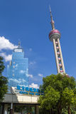Shanghai, China. TV tower and skyscrapers - 3 Royalty Free Stock Photography