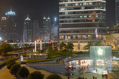 Shanghai, China van de binnenstad Royalty-vrije Stock Foto's