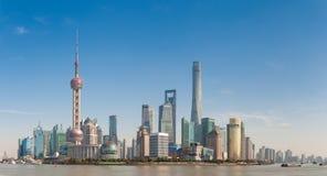Shanghai, Cina: 21 gennaio 2017: orizzonte moderno della città, Schang-Hai Immagine Stock