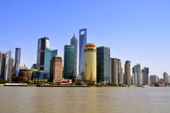 Shanghai city building wide view Royalty Free Stock Photography