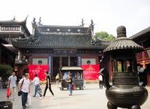 Shanghai City of God Temple Grounds Stock Photo
