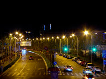 Shanghai city night streetscape Royalty Free Stock Image
