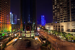 Shanghai city night view Royalty Free Stock Images