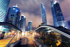 Shanghai city. Nights Pudong Stock Image
