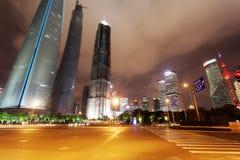 Shanghai city. Nights Pudong Stock Image