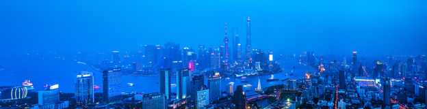Shanghai City River scenery Royalty Free Stock Photography