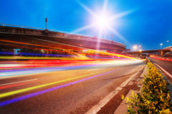 Shanghai city roads and night Stock Images