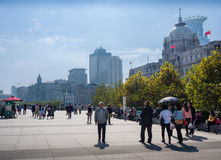 Shanghai City skyline, on The Bund, Shanghai, China Stock Image