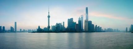 Shanghai city skyline. Panorama Shanghai city skyline, Shanghai China Stock Photo