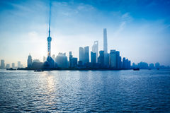 Shanghai city skyline Stock Images