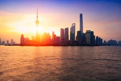 Shanghai city skyline royalty free stock image