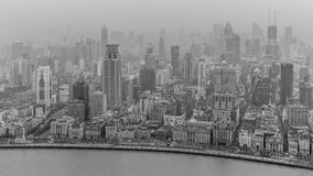 Shanghai City. View on the Downtown district of Shanghai with the Bund along the river Huangpu Stock Photo