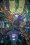 Shanghai cityscape. Bird view at shanghai china, bund (pudong) area, urban scene Stock Photo
