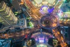 Shanghai cityscape. Bird view at shanghai china, bund (pudong) area, urban scene Royalty Free Stock Photo