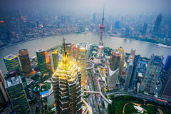 Shanghai Cityscape Royalty Free Stock Images