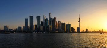 Shanghai Cityscape. Cityscape of Shanghai commercial and financial center Stock Images