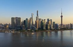 Shanghai Cityscape. Cityscape of Shanghai commercial and financial center Stock Photo