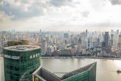 Shanghai Cityscape med skyskrapor arkivfoto