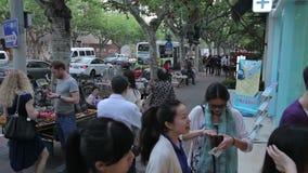 Shanghai civilizou o parque vídeos de arquivo