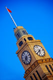 Shanghai clock tower. Over a blue sky Stock Images