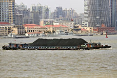 Shanghai Coal Barge Stock Image