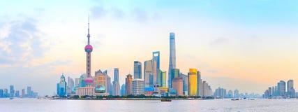 Shanghai colorful panorama, China Stock Photos