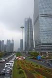 Shanghai, commercieel centrum van de stad Royalty-vrije Stock Foto's