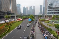 Shanghai, commercieel centrum van de stad Stock Foto