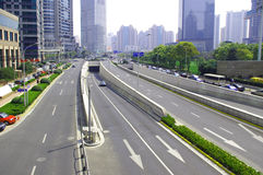 Shanghai construction traffic Stock Photography
