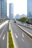 Shanghai construction traffic Royalty Free Stock Photos
